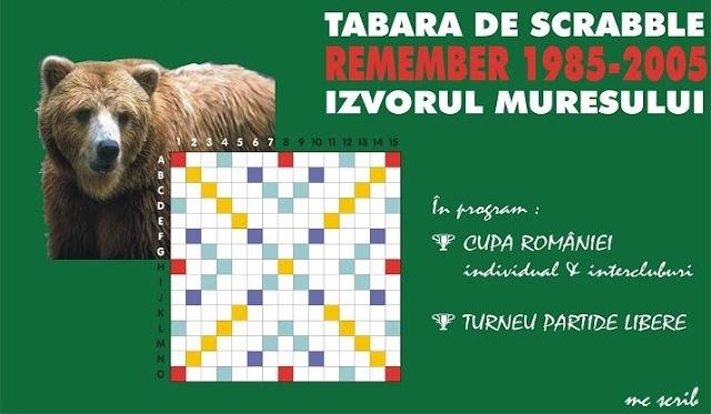 Tabara de Scrabble Izvorul Muresului 2005 - afis de Mihai Covaciu