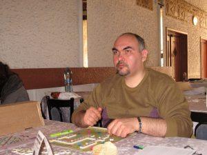 Cristian Isop la un turneu de Scrabble