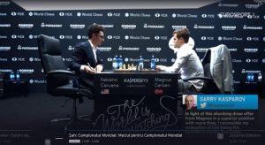 Finala Campionatului Mondial de Sah 2018: Marele Maestru norvegian Sven Magnus Oen Carlsen - Marele Maestru american Fabiano Luigi Caruano, Londra, 9-28 noiembrie 2018