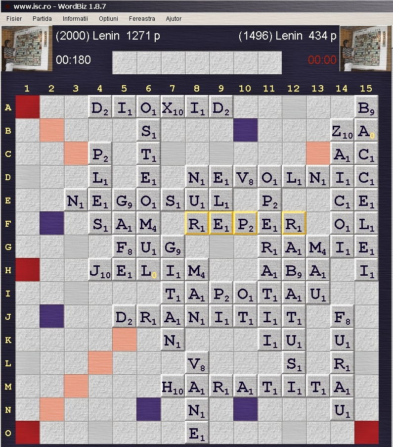 Scrabble Duplicat Internet Scrabble Club, ISC, 31 august 2019