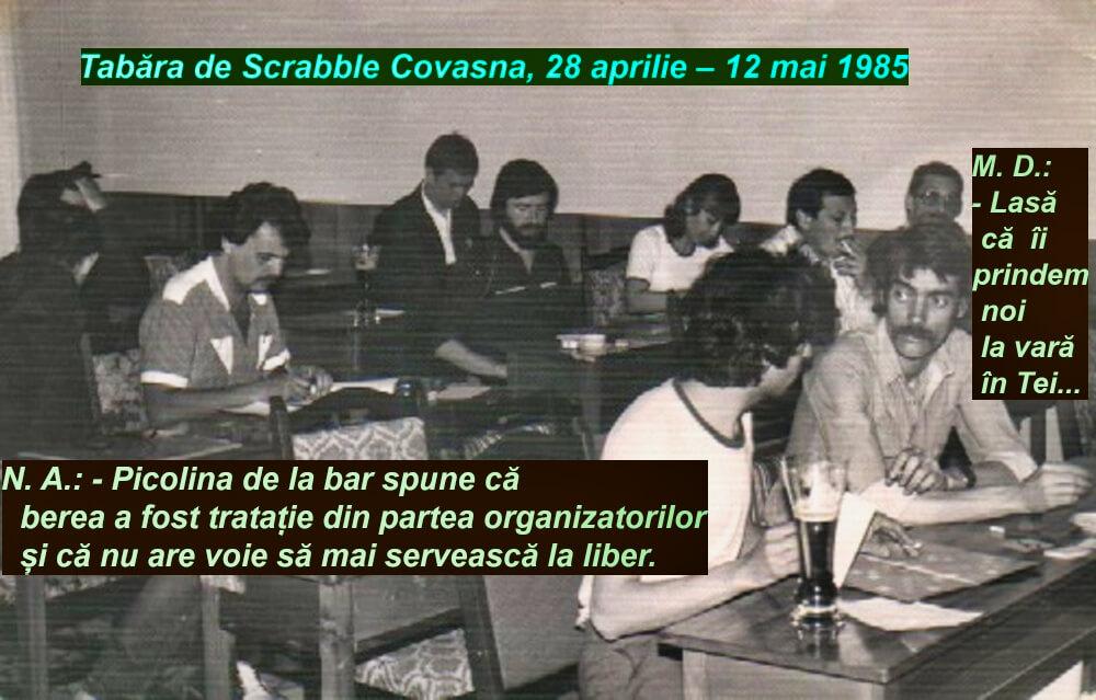 Tabara de Scrabble Covasna 1985, Partida de Scrabble Duplicat Perechi