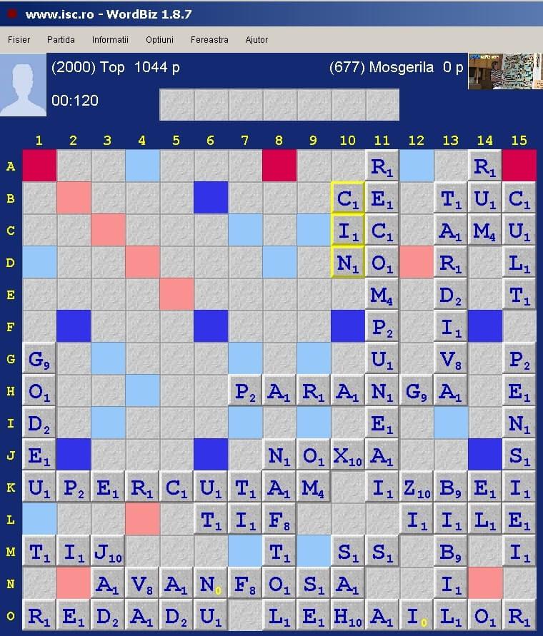 Scrabble Duplicat, ISC, 31 ianuarie 2020
