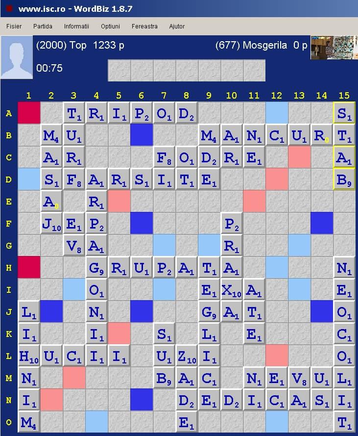 Scrabble Duplicat, Internet Scrabble Club, ISC, 9 aprile 2020