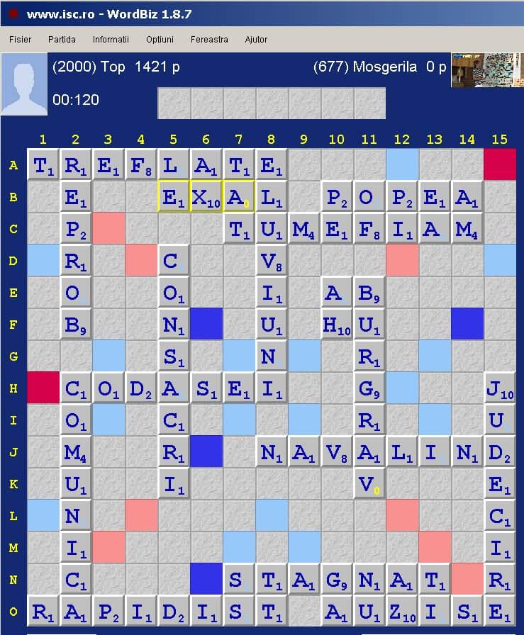 Scrabble Duplicat, Internet Scrabble Club, ISC, 5 aprile 2020.