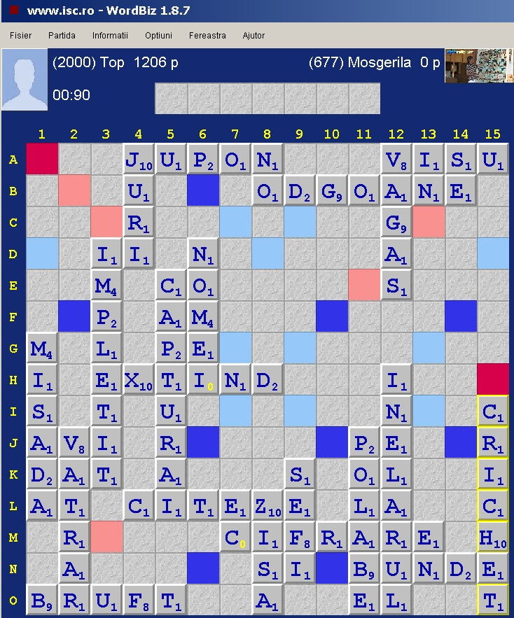 Scrabble Duplicate, Internet Scrabble Club, ISC, 7 aprile 2020.