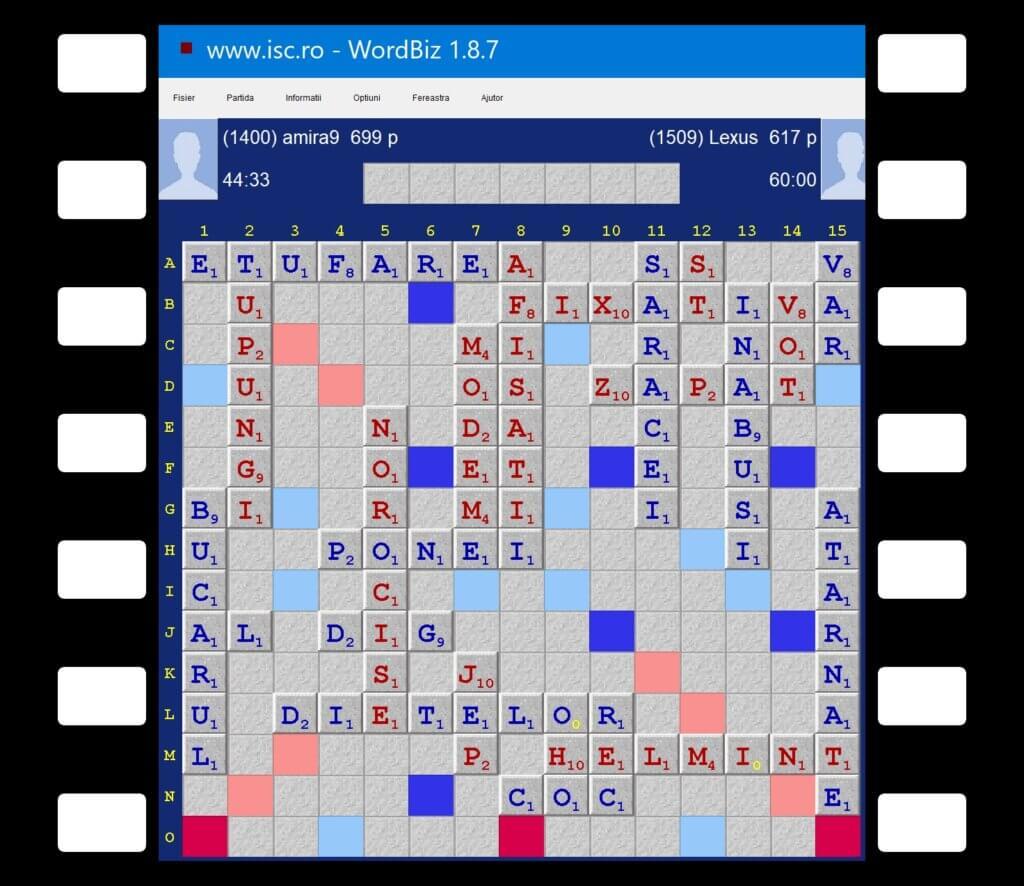 Scrabble, Meciul zilei 4 februarie 2021, Mirela Timaru, Amira9 vs Lexus 699 - 617